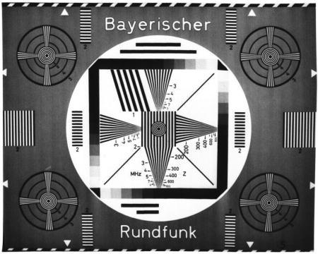 Ein altes, optisches Testbild des Bayerischen Rundfunks