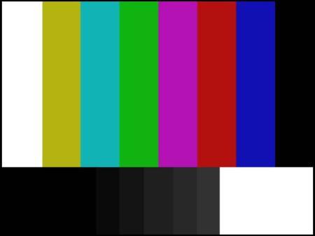 Ein typisches Farbbalken-Testbild