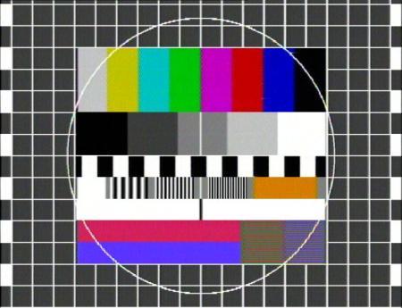 Ein Testbild, das bei deutschen Sendern für interne Zwecke verwendet wird