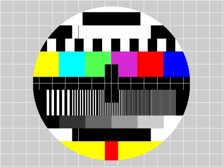 Testbild aus einem Philips-Generator, weltweit verwendet…