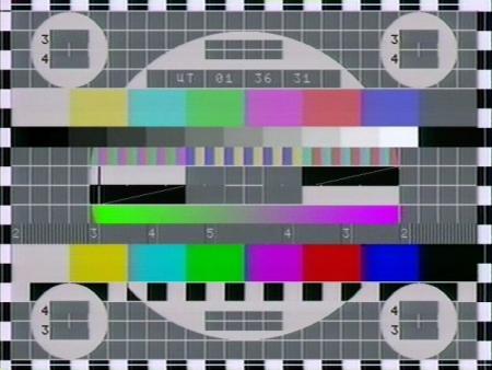 Ein elektronisches Testbild des russischen Fernsehens