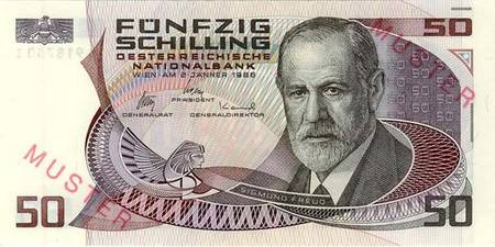Eine östereichische 50-Schilling-Note