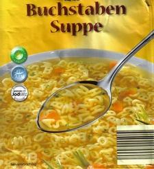 Die Buchstaben-Suppe von Aldi...