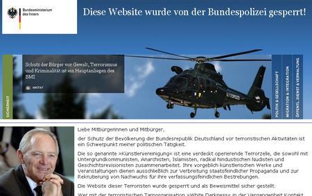 Aprilscherz: White Darkness von der Bundespolizei gesperrt